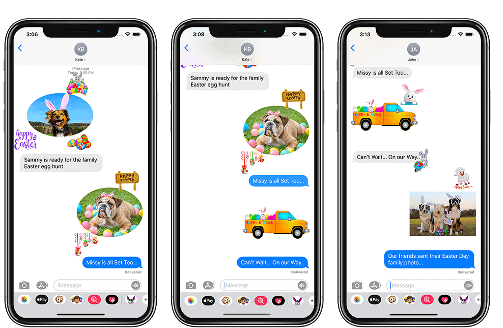 3 Imessage sticker app samples