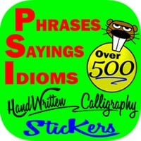 PHRASES IDIOMS QUOTES STICKERS