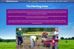 Silvo's Farm - Silviosfarm.com - Aronia Berry Planting Crew