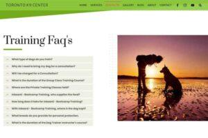 Toronto K9 Center - Dog Training FAQ's