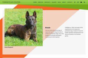 Toronto K9 Center - Working Dog Breeds