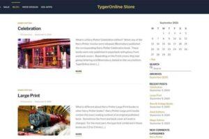 Tygeronline Store - Tygeronline.com/store - Blog Posts